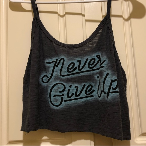 Michelle Tops - Never Give Up Crop Top